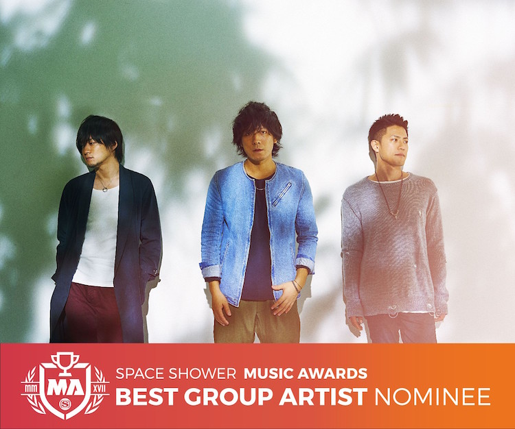 SPACE SHOWER MUSIC AWARDS 2016【BEST GROUP ARTIST】にback numberがノミネート!