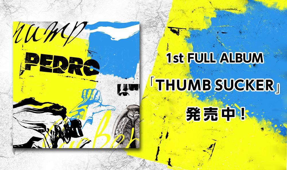 初のフルアルバム「THUMB SUCKER」発売決定!!