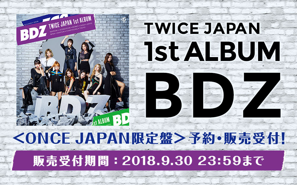 TWICE JAPAN 1st ALBUM BDZ